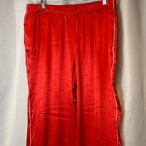 Victoria's Secret | Red Pajama Silk Dot Pants L